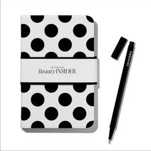 NOTEBOOK + PEN: Sephora Beauty Insider Pocket Size